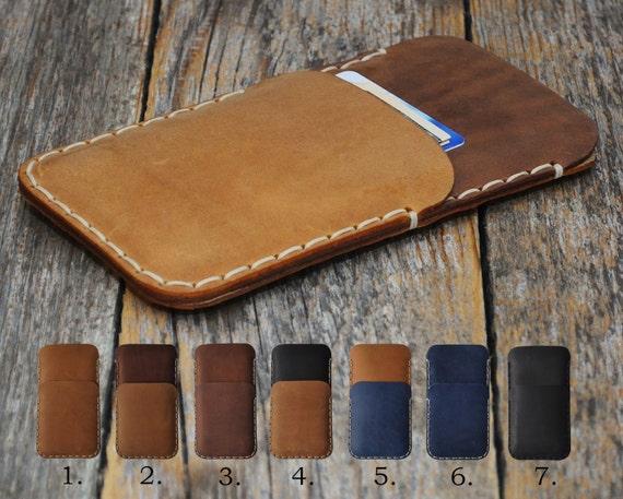 BlackBerry Motion KEYone DTEK60 DTEK50 Leap Priv Case Wallet Rough Style Handmade Aged Leather Pouch Sleeve Custom Sizes Available