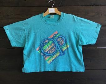 Vintage 80's OP Crop Top