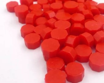 50 capsules of Wax color red/sealing wax