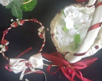 Baskets small bridesmaid wedding band/basket/accessories/Maisonloisirs/weddings/Crown/patales/flower girl basket/sweets/basket