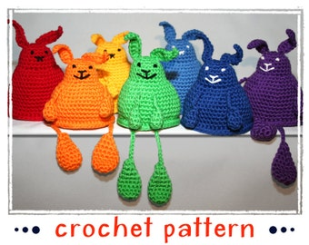 Bunny - Shelf Sitter - Egg Cozy - Crochet Pattern - Amigurumi - PDF file