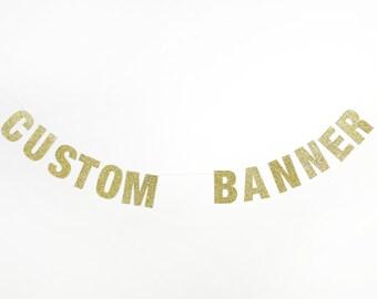 "Glitter Banner - Custom - 5.0"" - Bachelorette Party. Bride To Be. Pop Fizz Clink. Cheers Bitches. Dorm Decor. Custom Glitter Banner. Sparkle"