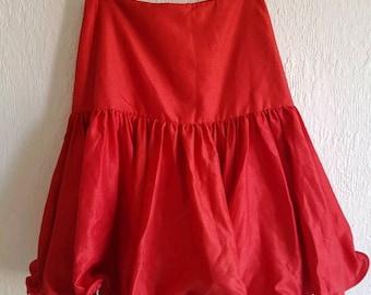 Vintage 1980s Full Red Skirt Size AU 6 8 Shute Boss