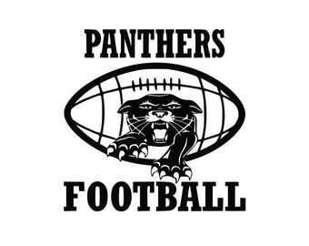 Panthers Football high school college SVG File Cutting, DXF, EPS design, cutting files for Silhouette Studio and Cricut Design space