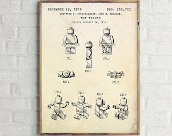 Lego Patent Poster. Lego Toy Blueprint. Legoman Patent Print. Lego Patent Drawing. Lego Poster. Lego Wall Art. Lego Print. Lego Toy Figure.