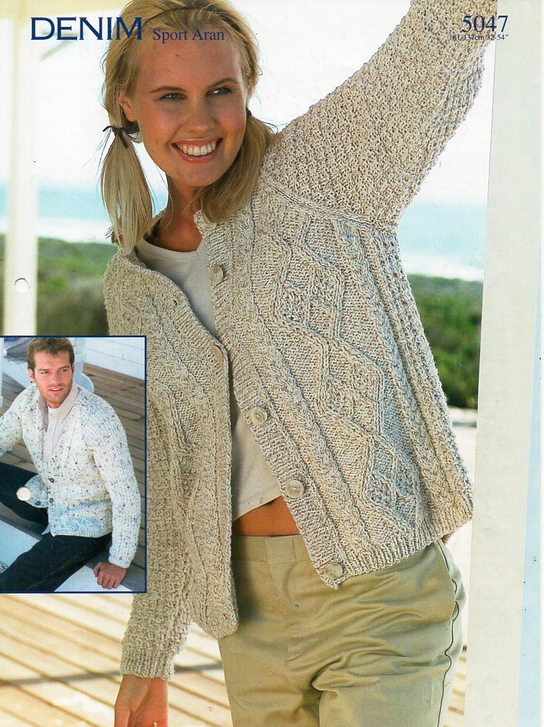 Enchanting Aran Cardigan Knitting Pattern Images - Sewing Pattern ...