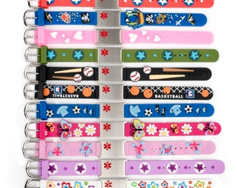 Beautiful children medical emergency Alert ID bracelets, SOS bracelet, Allergy bracelet children