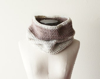 Cozy Cowl in Wheat and Oatmeal - SALE
