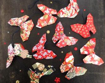 Guirlande de papillons en papier origami