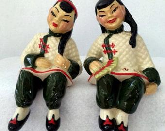 vintage oriental shelf sitters Ceramic Arts Studio