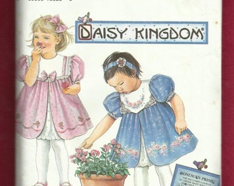 Simplicity 8316 Daisy Kingdom Dress Pattern for Baby Girls and Toddlers Sew Cute Sizes 6 M-1-2 UNCUT
