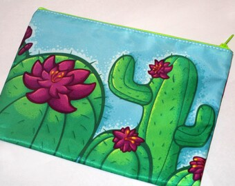 Cactus Zipper Bag