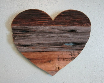 Barn Wood Heart, Rustic Home Decor, Wood Heart, Rustic Wall Decor, Gallery Wall, Wedding Heart, Wedding Sign, Barn Wood Sign, Rustic Decor