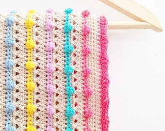 Crochet Bobble Stitch Blanket Pattern