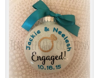 engagement ornament for the soon to be Mr & Mrs! (mr/mr) (mrs/mrs)