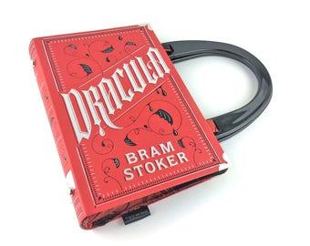 "Dracula Handbag, Bram Stoker handbag, Count Dracula bag, Halloween handbag, Dracula handbag, Goth handbag, Victorian Gothic novel, ""Mwhaha!"""
