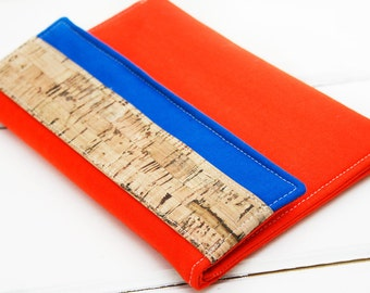 Premier Kindle Paperwhite Sleeve,  Kindle Cover, Kindle Paperwhite Case, Samsung Tab Case, Color Block Team Colors Gators, Orange Blue Case