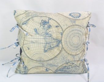 Decorative Pillow... Couch Pillow... Pillow Cover... Nautical Theme Decor