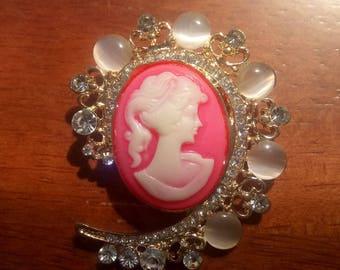 Pink Lady Brooch