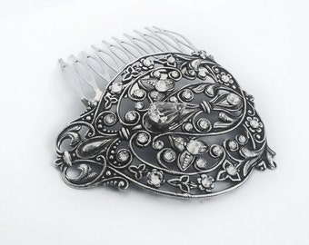 Bridal Hair Comb Vintage Swarovski crystal Wedding Filigree Hair accessory Hair Jewelry Formal Party Wedding jewelry womens