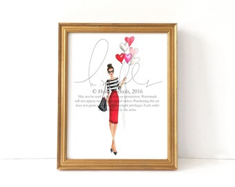 Close to He[ART] (Fashion Illustration Print)