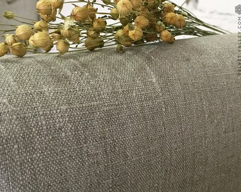 Dense natural flax - stonewashed unbleached heavy natural linen- Linen for bedspreads, quilts furniture upholstery -Hypoallergenic linen