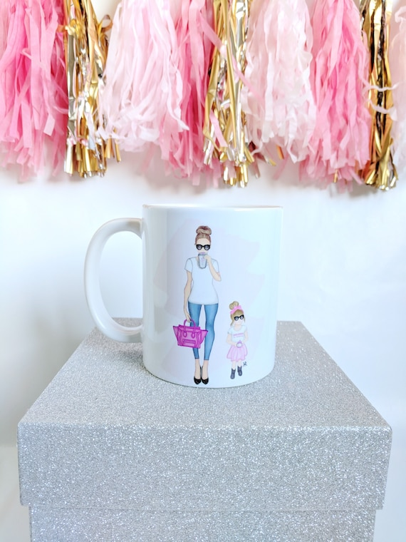 girl boss and girlboss in training mug, mommy and me mug, mother daughter mug, Girl Boss Art, custom mug, chic mug, custom girlboss