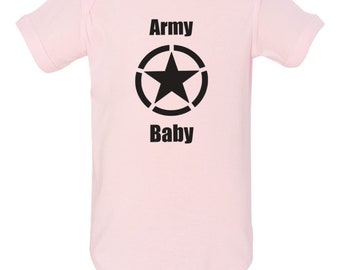 Military Army Baby Clothes Onesie Pink Bodysuit Romper Child Jumper PJ
