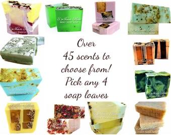 SOAP 4 Soap Loaves, 3.5 lb Handmade Soap, Wholesale Soap Loaves, Vegan Soap, Soap Gifts, Natural Soap, Wedding Soap Favors, FREE SHIPPING