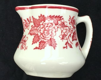 Jackson Restaurant Diner Hotel China 3 oz. Floral Creamer Jessica Pattern in Excellent Condition