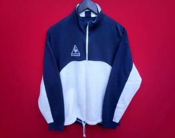 vintage le coq sportif half zipper sweatshirt medium mens size