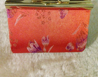 Vintage 1990's Coin Purse Orange Barcode
