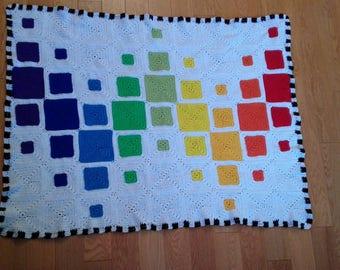 Quilt Inspired Crochet Blanket