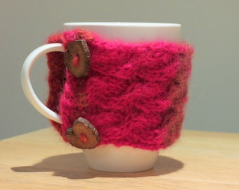 Cable Knit Mug Hugger in 'Aurora'