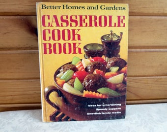 1968 Casserole Cook Book, Better Homes and Gardens Vintage Cookbook