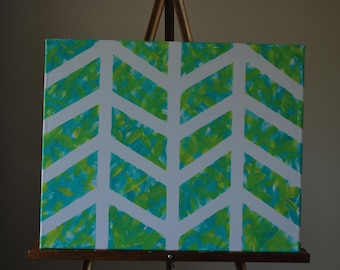 """Spring - 16"""" x 20"""" Abstract Canvas Painting"""