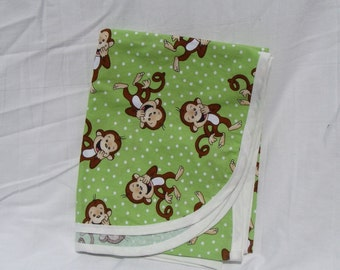Cotton Receiving Blanket Monkeys