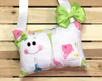 Personalized Tooth Fairy Pillow- Birdies- W0006
