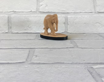 Beautiful Hand Carved Sculpted Wooden Elephant