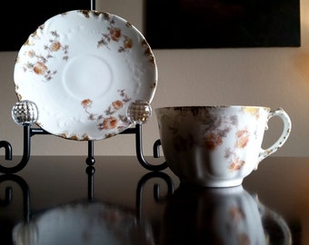 Vintage Haviland Teacup and Saucer / CFM GDM Limoges France