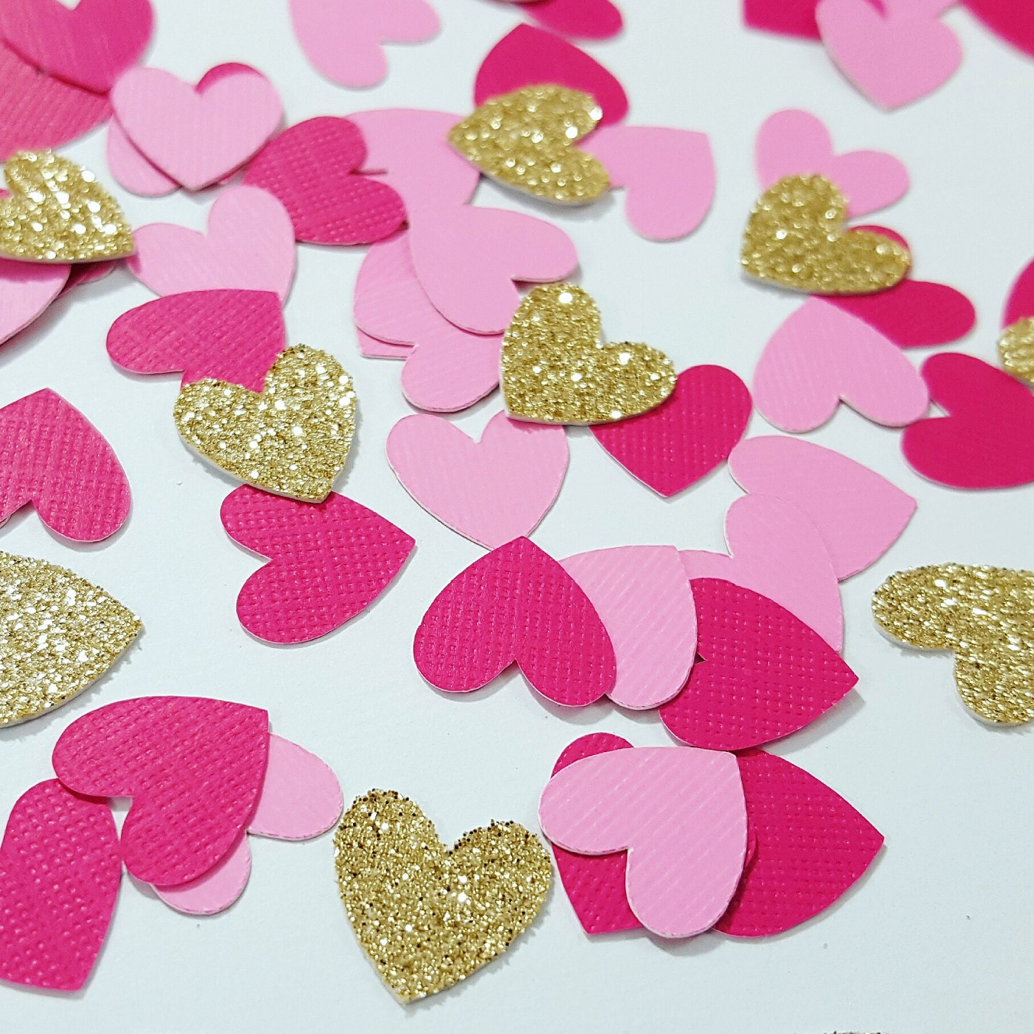 High Quality Light Pink, Dark Pink, Gold Or Silver Glitter Heart Confetti   Valentineu0027s  Day Decorations   Bridal Shower Decorations   Wedding Decorations