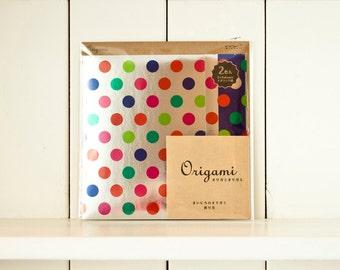 Japanese Origami, Paper folding, Origami folding paper, Origami paper, Origami paper sheets, Metalic dots