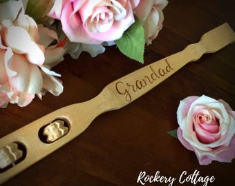 Personalised wooden back scratcher, custom wood backscratcher, retirement gift, grandparent gifts, grandfather gift, spa gift, massage gift