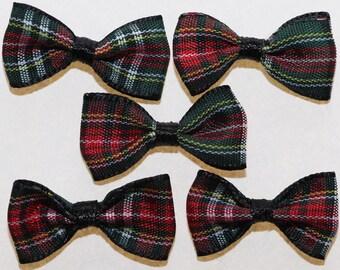 20 x Scottish Tartan Plaid ribbon bow: 2371