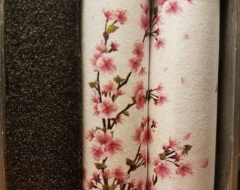 One Pair of 18650 Custom Battery Wraps - Cherry Blossom