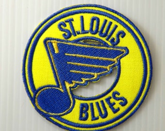 """2.3/4""""x1pc. st.louis blues ice hockey nhl team embroidered embroidery iron sew on patch badge cap hat shirt shorts apparel"""