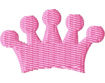 Princess Crown 2 Machine Embroidery Mini Design