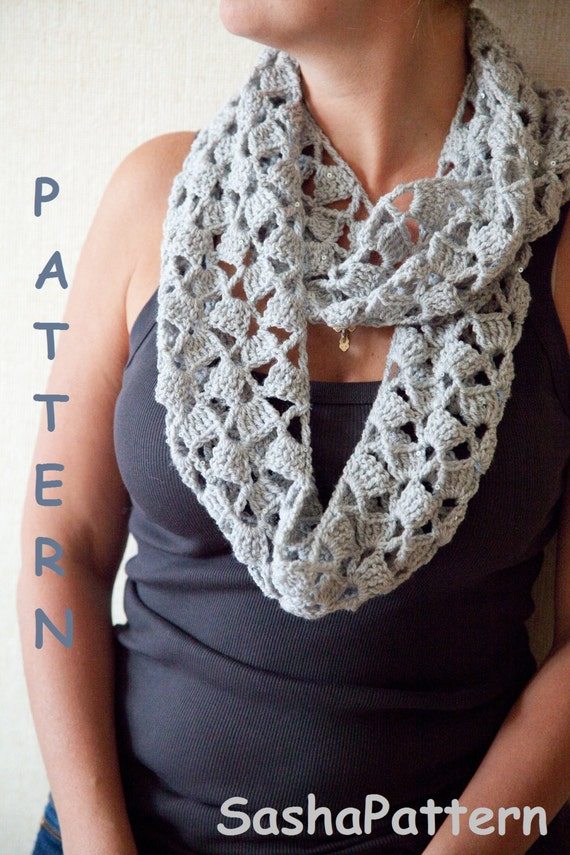 Crochet Infinity Scarf With 1 Seam Easy Crochet Scarf