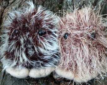 Bigfoot plush toy, Sasquatch stuffed animal, hand knit Bigfoot, felted Sasquatch toy, Bigfoot doll, Cryptid toy, made to order