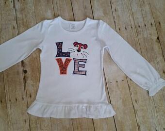 Tiger Love Shirt *long or short sleeve*